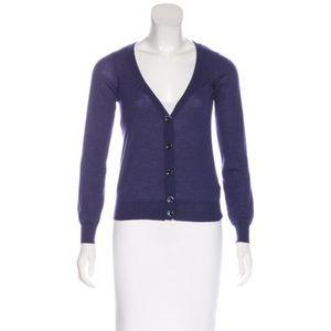 MM6 Margiela cashmere-blend lightweight cardigan